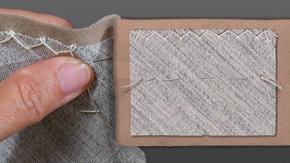 Sewing a Catch Stitch