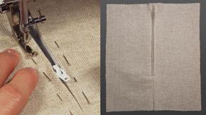 Centered Zipper