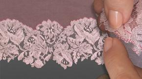 Lace  Appliqué Overcast Stitch