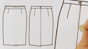 Skirt Flat Drawing