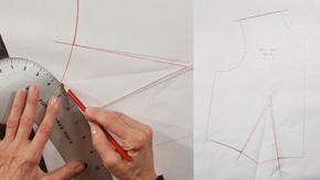 Pivoting a Front Shoulder Dart to One Waist Dart