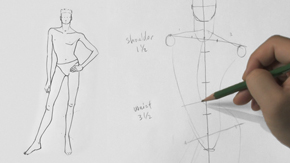 Drawing Male Contrapposto Pose