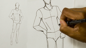 Ink Drawing The Male Fashion Figure