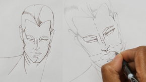 Ink Drawing Male Fashion Face