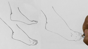Drawing Female Feet: Profile/Three-Quarter View