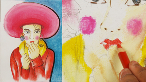 Fashion Illustration Using Pastels