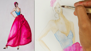 Fashion Illustration Using Watercolors