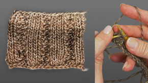 Knitting a Raised Rib Stitch