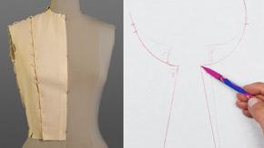 Drafting a Shoulder Dart Bodice Sloper from Measurements