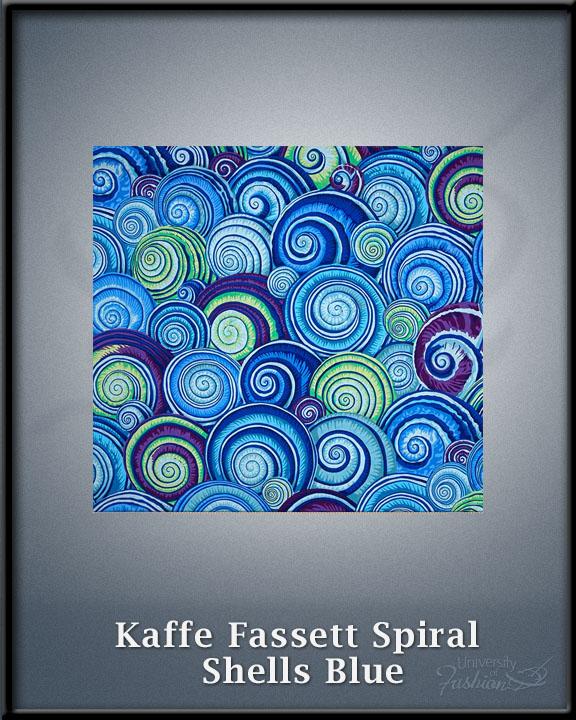 Kaffe Fassett Spiral Shells Blue