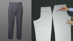 Drafting a Men's Pleated Trouser