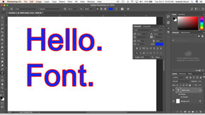 Adding Type and Type Effects in Adobe Photoshop-#3