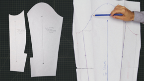 Drafting a Men's Two-Piece Jacket Sleeve