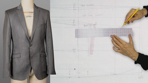 Drafting a Men's Classic 2-Button Single-Breasted Jacket