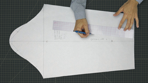 Drafting a Men's One-piece Jacket Sleeve from Measurements