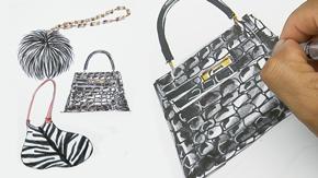 Sketching Handbags