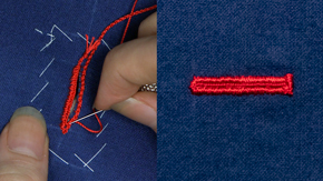 Handsewn Straight Buttonhole
