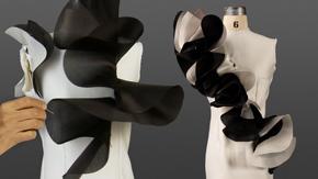 Draping a Cascade Ruffle Dress