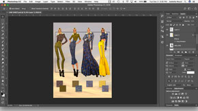 Creating a Fashion Figure Line Sheet in Adobe Photoshop – #14