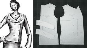 Drafting a Portrait Collar Jacket