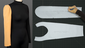 Drafting an Extended 2-piece Sleeve