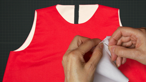 Sewing an All-in-One Facing – Armhole Technique