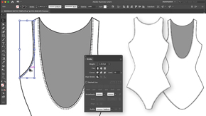 Drawing a Swimsuit Block Template in Illustrator