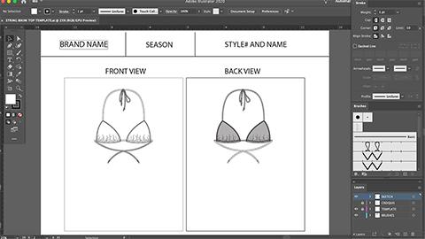 Drawing a String Bikini Top