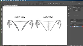 Drawing a String Bikini Bottom
